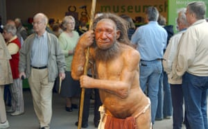 Science 2009: A Neanderthal man in the lobby of the Neanderthal Museum