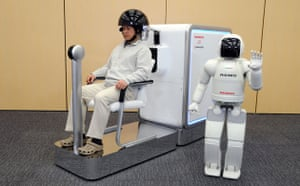 Science 2009: Honda's ASIMO robot with World's First Brain Machine Interface Technology
