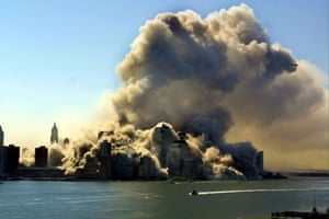 Pictures of the Decade: 11 September 2001: view over the Hudson as the World Trade Centre collapsed