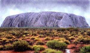 Pictures of the Decade: 22 February 2000: Uluru (Ayers Rock) turns an  unusual colour