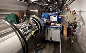 Science 2009: CERN Welding interconnections on a magnet sector