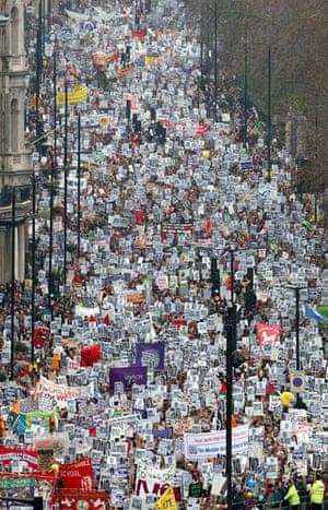 2002-03: 2003: Anti war protesters in London