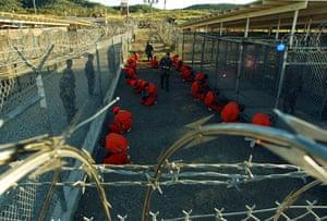2002-03: 2002: Camp X-Ray at Guantanamo Bay