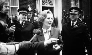MAGARET THATCHER IN DOWNING STREET