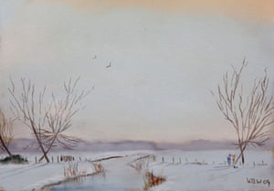 Kieron Williamson: A winter scene by artist Kieron Williamson