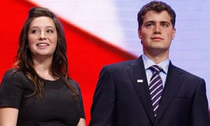 Bristol Palin and Levi Johnston at the Republican National Convention in 2008