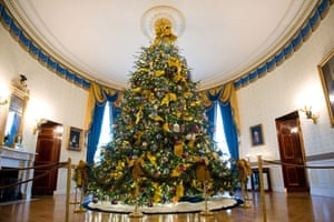 white house christmas the official white house christmas tree is displayed in the blue room - White House Christmas Trees