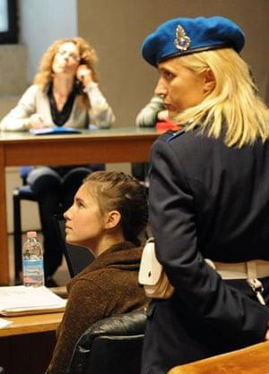Meredith Kercher trial: 2 December 2009: Amanda Knox attends the Meredith Kercher trial