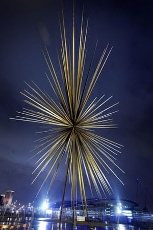 Pictures of the Decade: 12 January 2005: B of the Bang sculpture designed by Thomas Heatherwick
