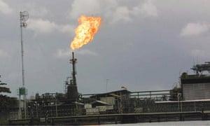 Niger Delta Shell gas flaring
