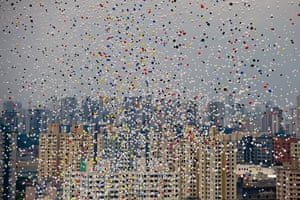 24 hours: Sao Paulo, Brazil: Biodegradable balloons are released for New Year