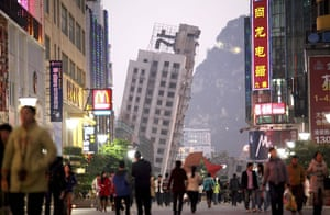 24 hours: Liuzhou, China: Building that was left standing after a botched demolition