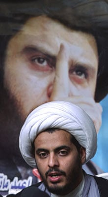 Qais al-Khazali in 2004; he is not allowed a direct role in the political process, for now