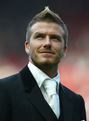 David Beckhams New Look In Pictures Fashion The Guardian - David beckham hairstyle hd photos