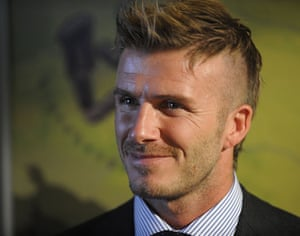 David Beckhams New Look In Pictures Fashion The Guardian - David beckham new hairstyle