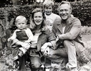 Richard Todd: 2006: Richard Todd his wife Virginia with their sons Seumas and Andrew