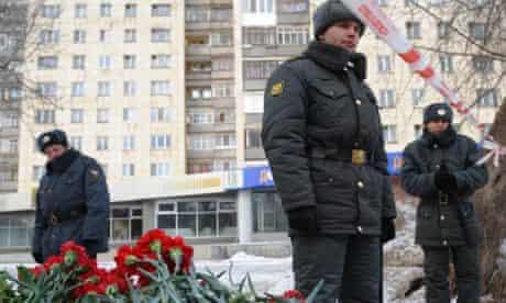 Police outside scene of Russian nightclub blaze in Perm