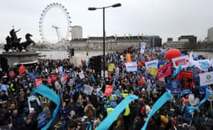 Wave climate change demo: Climate Change demonstrators protest in London