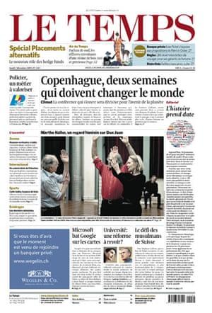Copenhagen editorials : Copenhagen editorials - Le Temps, Switzerland