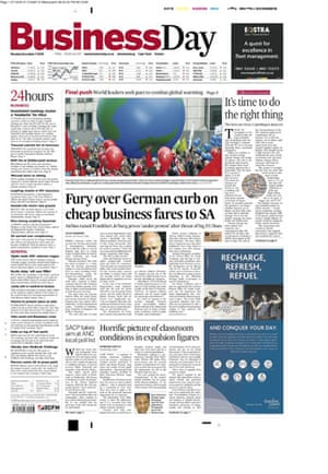 Copenhagen editorials : Copenhagen editorials - Business Day, South Africa