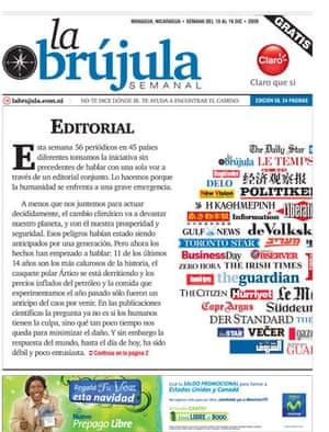 Copenhagen editorials: La Brujula Semanal, Nicaragua