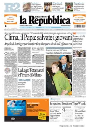 Copenhagen editorials: La Republica, Italy