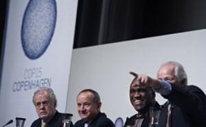Copenhagen diary: Yvo de Boer, second left, Michael Zammit Cutajar, left, and John Ash COP15