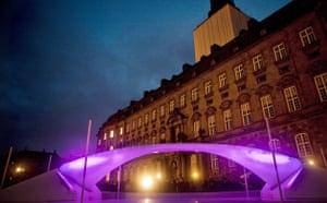 Copenhagen diary: A bridge by Norwegian artist Vebjoern Sand made of ice