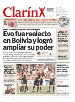 Climate change papers: Clarin, Argentina