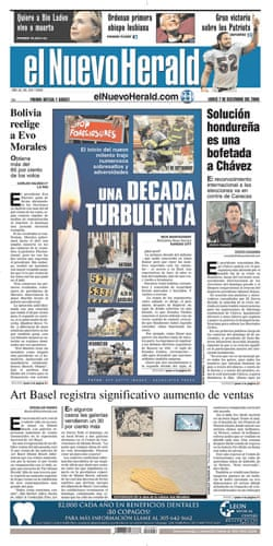 Climate change papers: El Nuevo Herald, USA