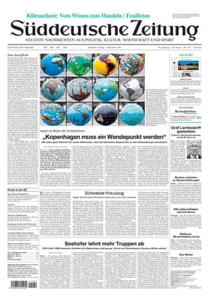 Climate change papers: Süddeutsche Zeitung, Germany