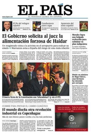 Climate change papers: El País, Spain