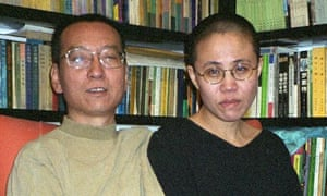 Chinese dissident Liu Xiaobo, left, and his wife Liu Xia in Beijing in 2002.