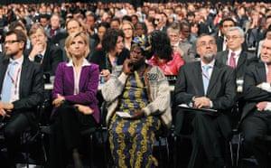 Copenhagen diary: Nobel Peace Prize Wangari Maathai of Kenya at opening ceremony, COP15