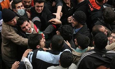Iranian protests at Tehran University