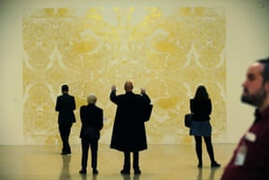 Wright wins Turner: gold leaf artwork by artist Richard Wright