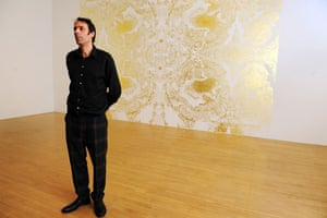Wright wins Turner: Winner of the Turner Prize 2009 Richard Wright in front of his art