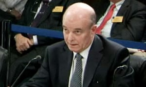 Sir John Scarlett giving evidence to the Chilcot inquiry into the war in Iraq on 8 December 2009.