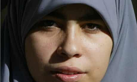 A Muslim woman wearing a hijab.