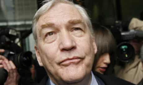 Conrad Black leaves the Dirksen Federal Courthouse after his sentencing hearing in Chicago