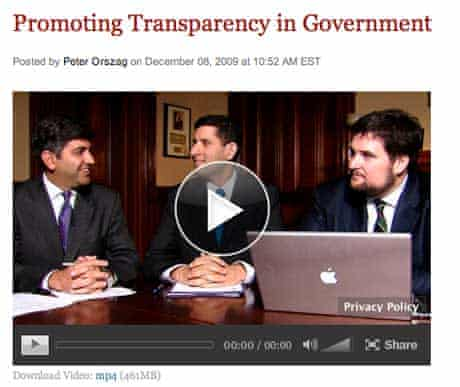 US Chief Technology Officer Aneesh Chopra and Chief Information Officer Vivek Kundra