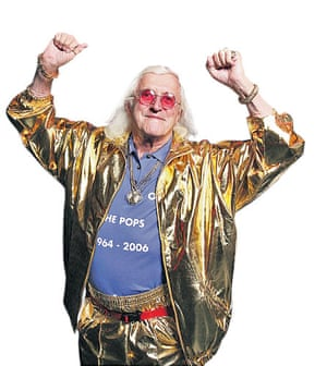 Lost in the noughties: Jimmy Saville hosting the last ever Top of the Pops
