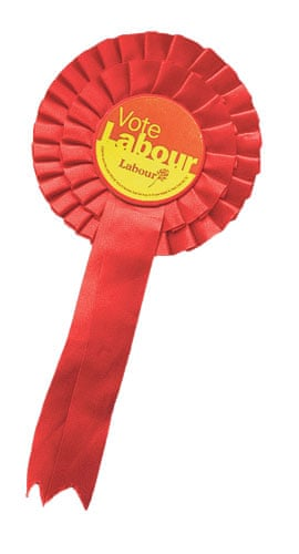 Lost in the noughties: Labour rosette