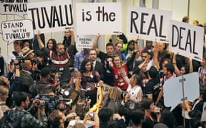 Copenhagen diary: COP15 Activists hold a demonstration in support of Tuvalu