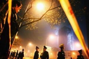 Beijing fire: Beijing hotel fire