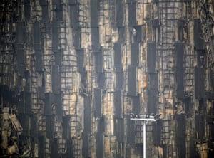Beijing fire: Fire-damaged rooms in the Mandarin Oriental hotel