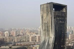 Beijing fire: The fire damaged Mandarin Oriental hotel
