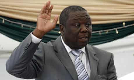 Morgan Tsvangirai is sworn in as prime minister of Zimbabwe