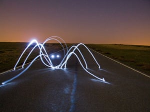 Light Graffiti: Spider from Mars