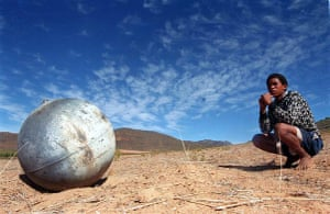 Space debris: A metal ball that fell from the sky in South Africa.